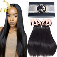 Remy cabello humano Bundles 4Bundles cabello recto Productos peruano indio malasio mongol brasileño Remy Virgen Extensiones de cabello al por mayor