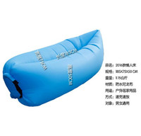 Wholesale 2017 new car air sofa outdoor inflatable cushion single loungers sleeping bag car inflatable lazy sofa