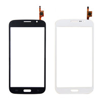 For Samsung For Samsung Galaxy Mega 5.8 i9150 i9152 Touch Screen For Samsung Galaxy Mega 5.8 i9150 i9152 Touch Screen Digitizer Parts Black White Cell Phone Front Glass Lens Repair Parts
