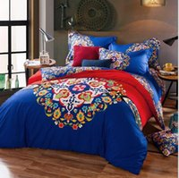 animal comforters - 5 colors High Qualit Bed Sheet Luxury D Print Floral Bedding Sets Comforter Sets Queen Size Duvet Cover Bed Sheet Autumn Winter Bed Clothes