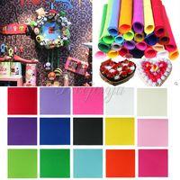 album bag - 15Pcs Polyester Felt Fabric Non woven Sheet for Craft Work cm cm DIY Sewing DIY postcard album scrapbook Dolls Bag Party Xmas Decor