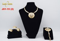 Wholesale New Exquisite Dubai Jewelry Set Luxury Gold Plated Big Nigerian Wedding African Beads Jewelry Set Costume Design