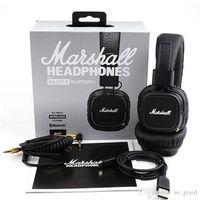 al por mayor generaciones remoto-Marshall Major MK II 2 Negro Auriculares Micrófono remoto de auriculares de nueva generación Mic 2 pk MARSHALL MONITOR Se215 Calidad AAA