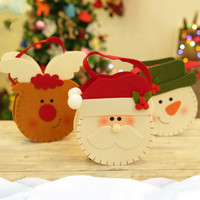 Wholesale New Arrival Christmas Candy Gift Bags Double Sided Design Cute Santa Claus Snowman Elk Candy Present Bags for Party Decotation
