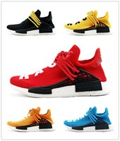Wholesale with original box NMD Human Race Runner Boost Pharrell s Runners and Trainers Boost Running Shoes Williams Pharrell real UPC Code US