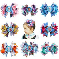alligator accessories - hair clip elsa Baby Girls Headband Princess Anna Ribbon With Alligator Kids Hair Bands Accessories DHL