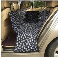 M bench car seats - Oxford Fabric Paw pattern Car Pet Seat Covers Waterproof Back Bench Seat Travel Accessories Car Seat Covers Mat for Pets Dogs