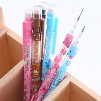 automatic school - mm Cute Kawaii Plastic Automatic Pencil Lovely Cartoon Bear Mechanical Pencils School Supplies