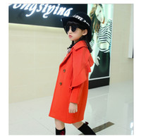 Wholesale The new girls han edition children s clothing woolen cloth coat long qiu dong outfit cuhk children woolen cloth coat