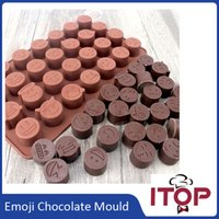 bake chocolate cake - Emoji Funny Face DIY Silicone QQ wechat Cake Chocolate Sugar Candy Baking Mould