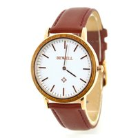 Modern best modern bands - Natural Wood Watches With Leather Band Fashion Casual Watches Wristwatch For Men and Women Japan Movement Analog Best Selling Watch Simple