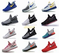 Chaussures kd mens taille 12 France-24 Couleurs KD 9 Chaussures de basket-ball pour hommes KD 9S Oreo Gris Loup Vert Kevin Durant Baskets Baskets Athletic Sport chaussures US Taille 7-12
