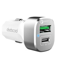 Wholesale dodocool W Port Car Charger with Quick Charge and USB C Output Charging Port for iPhone Plus Samsung S7 Edge LG G5 Nexus P DA89