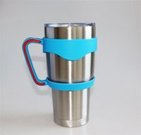 applied steels stainless - yeti new oz oz multicolor Snowman Cup handle Anti skid Stent Stainless steel insulation Cup handle plastic PP tpr Seamless apply