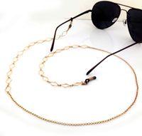 Wholesale GL006 pc pretty diamond shaped gold women eyeglass chains