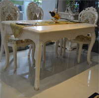 Wholesale Antique Style Italian Dining Table Solid Wood Italy Style Luxury marble Dining Table Set pfy10148