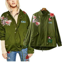 adjustable pipe stand - jackets for women fashion jackets with rivet peacock pattern Chinese embroidery flowers prints slim style women jackets