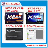 Wholesale New KTAG V2 KESS V2 V2 FGTech V54 ECU Programmer K TAG K TAG V6 FG Tech Galletto KESS OBD2 Chip Tuning Kit