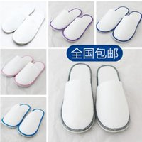 baby close - baby kids Slippers Hotel Travel Spa Disposable Slippers Scuffs Home Guest Slippers White With EVA Sole Closed Toe