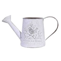 Wholesale French Style Rustic White Shabby Chic Mini Rustic Metal Garden Decor Watering Can For Home Wedding Decoration