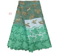 Wholesale African lace fabric french net lace fabric lace in high quality embroided with beads and flowers yards item nimber