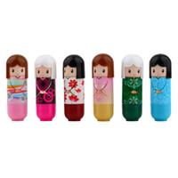 Wholesale pc Lovely Kimono doll Brand Makeup Lipstick Women Beauty Professional Cosmetic Lipstick Makeup lipgloss New Fashion