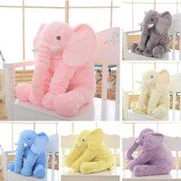 0-12 Months baby sleep cushion - cm Height Large Plush Elephant Doll Toy Kids Sleeping Back Cushion Cute Stuffed Elephant Baby Accompany Doll Xmas Gift