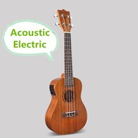 Wholesale Concert Acoustic Electric Ukulele Inch Guitar Strings Ukelele Guitarra Handcraft Wood White Guitarist Mahogany Plug in Uke