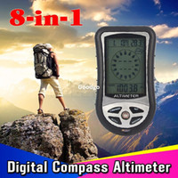 activities calendars - Freeshipping in Digital Altimeter with MultiFunction Barometer Compass Time Calendar Thermometer etc for Outdoor Activity Hiking Travel
