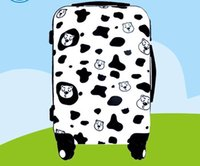 Wholesale BEAR FAMILY COW TRUNK FASHION TRAVELLING SUITCASE quot durable convenience unisex safety rotate degrees travel trunk the cow spots spinner