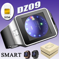 Wholesale DZ09 Smartwatch Android Samsung Smart Watch iwatch iPhone SIM Intelligent Mobile Phone Watch Can Record The Sleep State Smart With Box