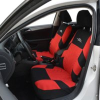 Wholesale AUTOYOUTH Red Tire Track Detail Style Polyester Fabric Universal Car Seat Covers Set Fits Most Car Covers Car Seat Protector
