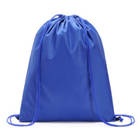 Wholesale New PU Waterproof Nylon rope Storage Bags Drawstring Backpack Toys Travel Shoes Laundry Lingerie Makeup Pouch