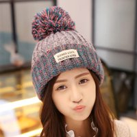 Wholesale 2016 Hot Sale Winter Hat For Women Thick Warm Knitted And Braided Baggy For Female Fashion Hats lxq23
