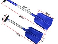 Wholesale Sales of and multi function expansion of aluminum household gardening car snow shovel