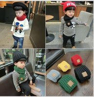Wholesale Unisex Winter Child Knitted Scarfs Long Solid Scraf Hat For Toddlers Baby Warm Scraf Boy Girl Kids Scraft
