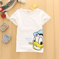 Wholesale Baby Kids Clothing Tops Tees white shirts summer girls Cartoon Figure clothing shirts Blouses singlet girl infant toddler clothes