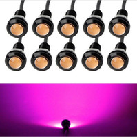 Wholesale 10 X W mm V V Purple Pink LED Eagle Eye Light Car Fog DRL Daytime Reverse Backup Parking Signal