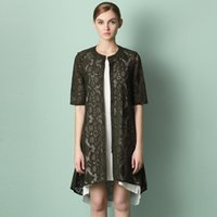 Shirt Dresses air conditioning station - European station spring and summer lace coat short sleeved sweater sweater lady sun air conditioning new women dress