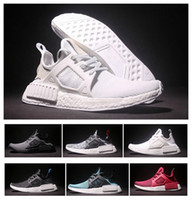 Wholesale 2016 Best Quality NMD XR1 Women Men Casual Running Shoes TOP Quality NMD Mastermind Skull Black Red White Boost Fashion Sneakers