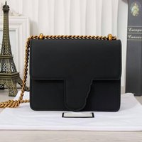 Wholesale Versatile Socialite Style Shoulder Bags for Women Genuine Leather Plain Lady Shoulder Bags with Flap Pocket