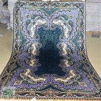 antique oriental carpets - 4 x6 Antique Persian Silk Black blue Carpet Hand Knotted Turkish Oriental Rugs Houston