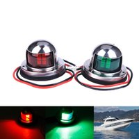 Wholesale Marine Boat Yacht Light V Stainless Steel LED Bow Navigation Lights Red Green