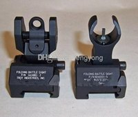 Wholesale 2013 Troy Industries Rear Battle Back Up Iron Sight Black Folding Piece Pack black