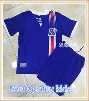 Wholesale Kids Iceland Jerseys Best Quality kids SIGTHORSSON A GUNNARSSON GUDMUNDSSON B BJARNASON kids jerseys