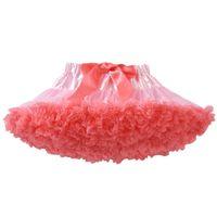 Enfants de danse vêtements féminine voile bébé belle effectue fleabane amère amende fleabane jupe rose et corail rouge