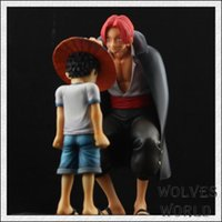 Wholesale One Piece action figures Anime Straw Hat Luffy Shanks red hair ornaments gift doll toys cm child luffy models pvc collection