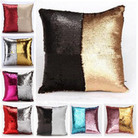 beige sofas - Double color sequins hold pillowcase bead piece of sofa cushion embroidery cushion for leaning on European pillowcases Can transform graphic