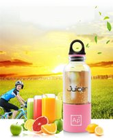 Wholesale Mini more function rechargeable automatic juice machine For Household Portable juicer cups ML colors Juicer