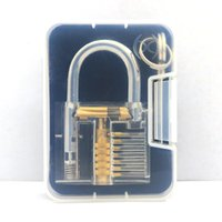 Wholesale FedEx Express Factory Price Pick Cutaway Inside Padlock Transparent Lock For Locksmith Practice Training L S size top supplier